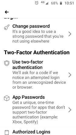 Two Factor Authentication Setup 3