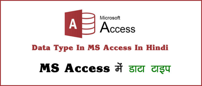 data types in ms access in hindi