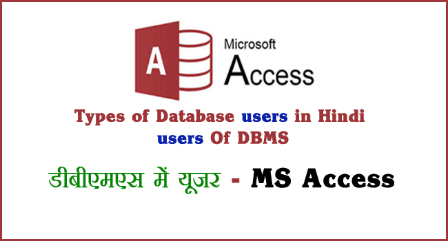 type of database users in hindi