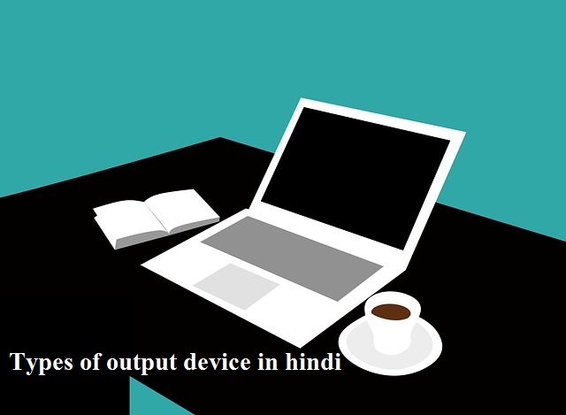 types of output device in hindi