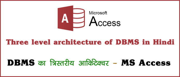 Three level architecture of DBMS in Hindi